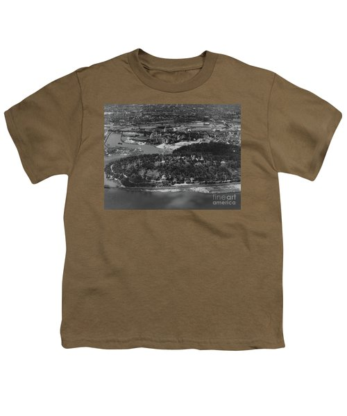 Inwood Hill Park Aerial, 1935 Youth T-Shirt by Cole Thompson
