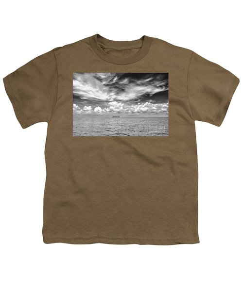 Island, Clouds, Sky, Water Youth T-Shirt