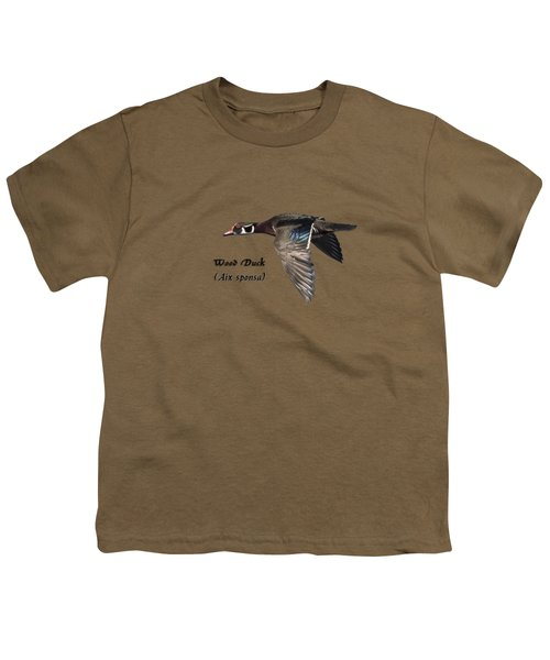 Isolated Wood Duck 2017-1 Youth T-Shirt by Thomas Young