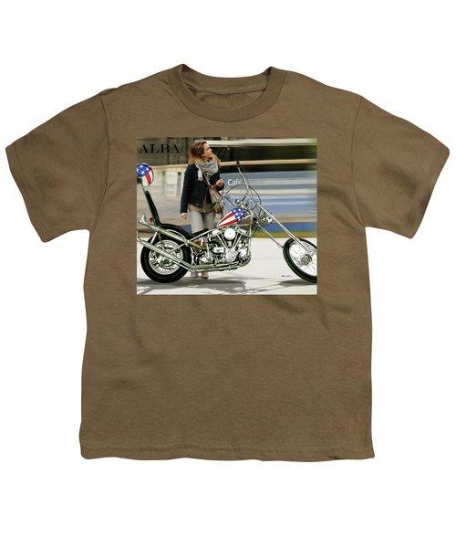 Jessica Alba, Captain America, Easy Rider Youth T-Shirt