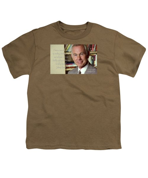 Johnny Carson On Pleasures In Life Youth T-Shirt by Garland Johnson