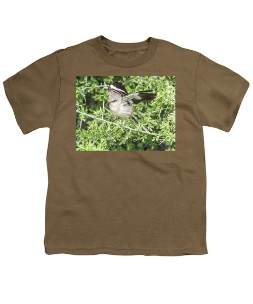 Juvenile Mockingbird With Crossbill Youth T-Shirt