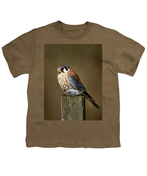 Kestrel With Prey Youth T-Shirt