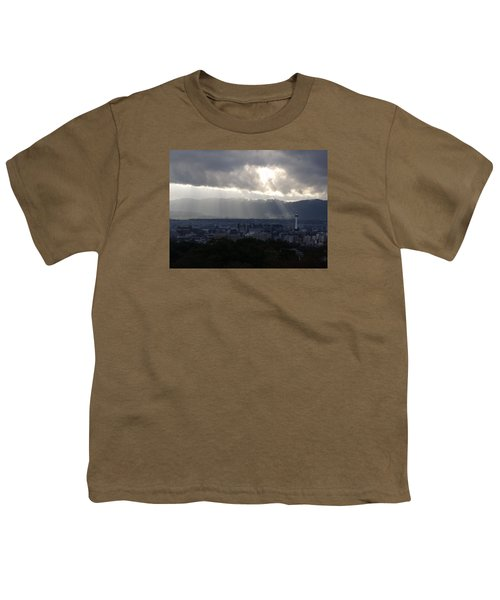 Kyoto Skyline Youth T-Shirt by Pete Hall