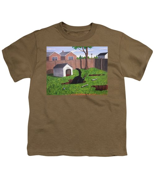 Lady Digs In The Backyard Youth T-Shirt