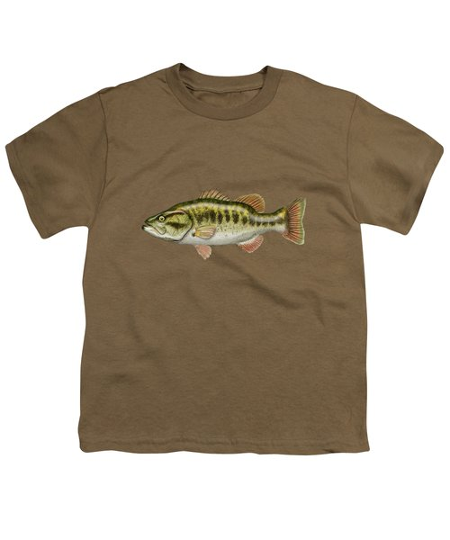 Largemouth Bass Youth T-Shirt by Serge Averbukh