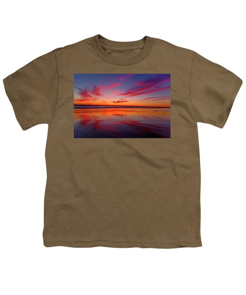 Last Light Topsail Beach Youth T-Shirt by Betsy Knapp