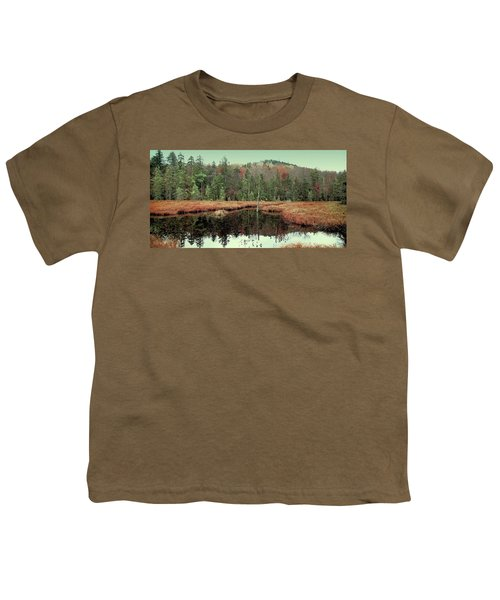 Youth T-Shirt featuring the photograph Last Of Autumn On Fly Pond by David Patterson