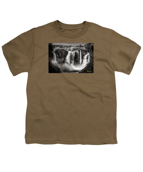 Youth T-Shirt featuring the photograph Late Afternoon At The High Falls by Rikk Flohr
