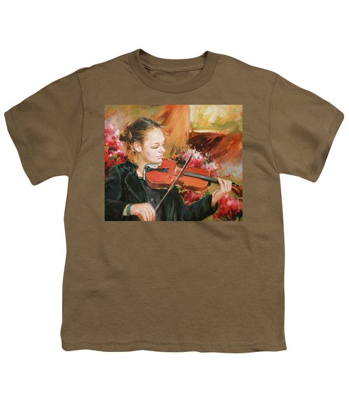 Learning The Violin Youth T-Shirt