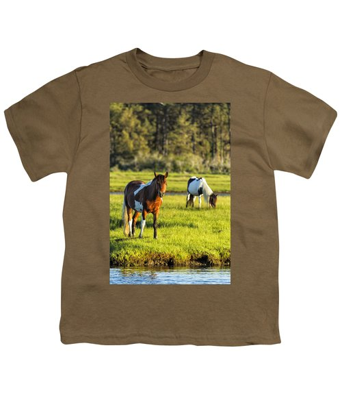 Leaving The Chincoteague Ponies Youth T-Shirt