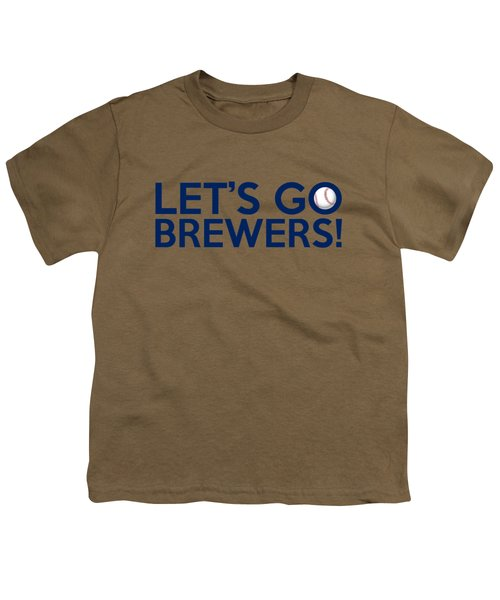 Let's Go Brewers Youth T-Shirt by Florian Rodarte