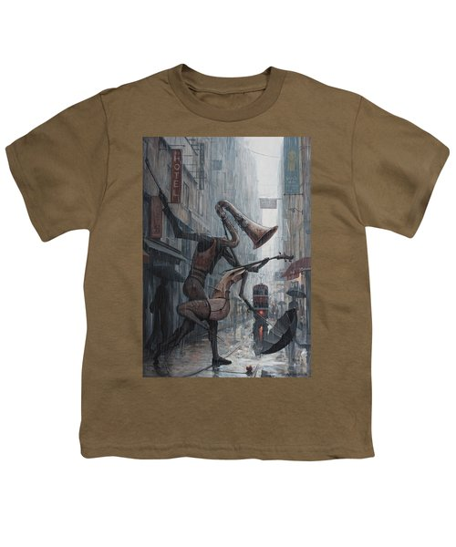 Life Is  Dance In The Rain Youth T-Shirt