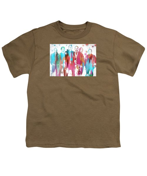 Linkin Park Watercolor Paint Splatter Youth T-Shirt by Dan Sproul
