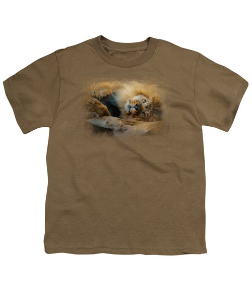 Lion Love 2 Youth T-Shirt by Jai Johnson