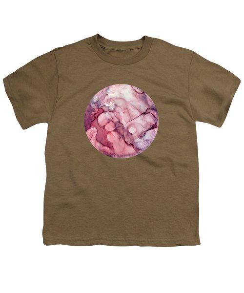 Liquid Mauve Abstract Youth T-Shirt