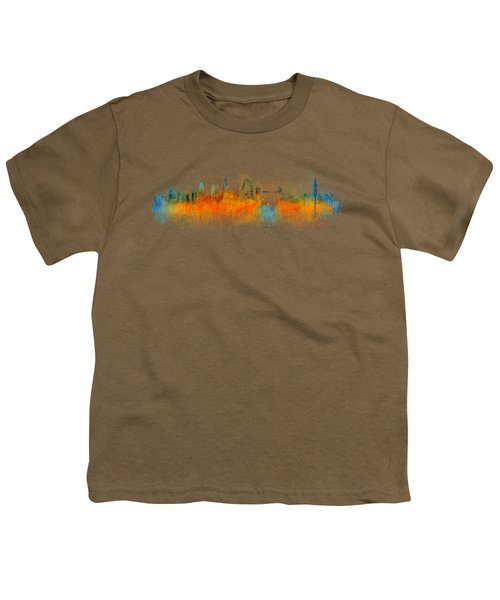 London City Skyline Hq V3 Youth T-Shirt by HQ Photo
