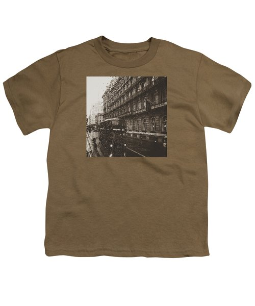 London Rain Youth T-Shirt by Trystan Oldfield