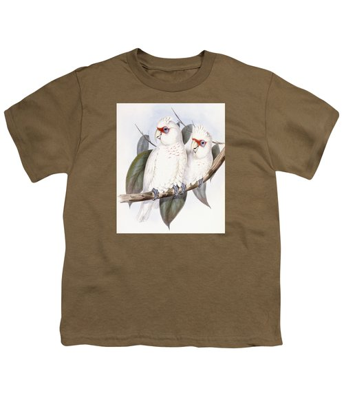 Long-billed Cockatoo Youth T-Shirt by John Gould