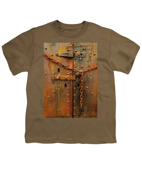 Long Locked Iron Door Youth T-Shirt