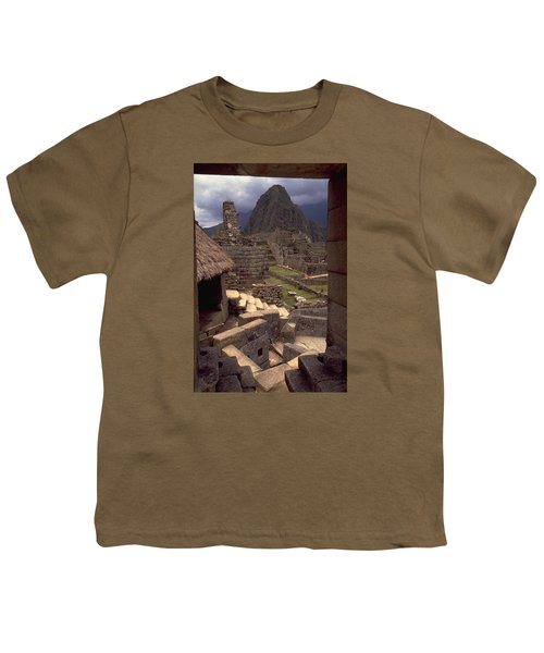 Youth T-Shirt featuring the photograph Machu Picchu by Travel Pics