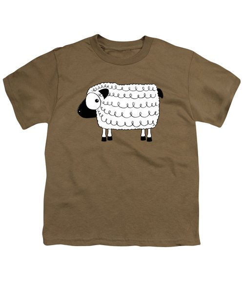 Marshmallow The Sheep Youth T-Shirt by Lucia Stewart