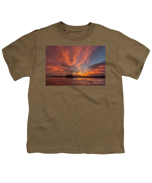 Youth T-Shirt featuring the photograph Mekong Sunset 3 by Werner Padarin
