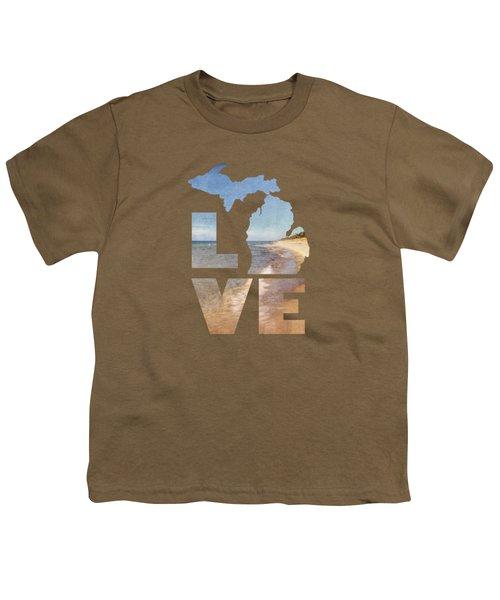 Michigan Love Youth T-Shirt