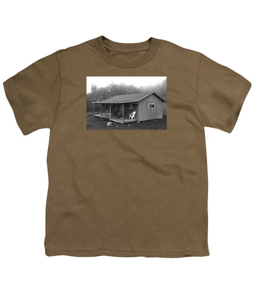 Misty Morning At The Cabin Youth T-Shirt