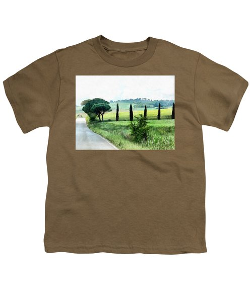 Misty Morning In Umbria Youth T-Shirt