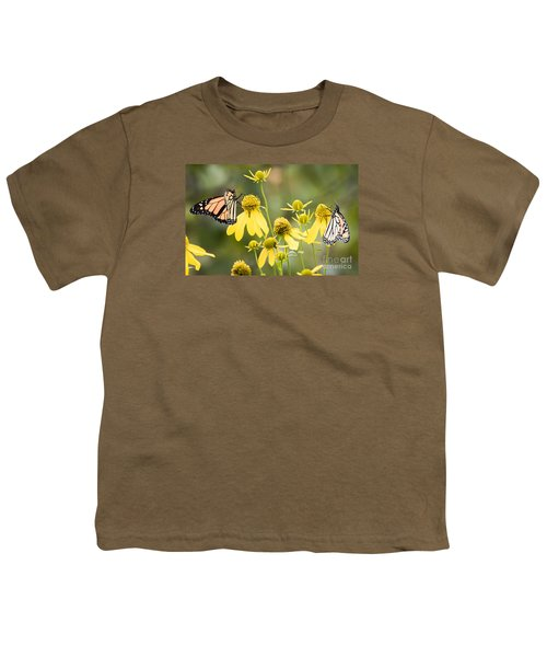 Youth T-Shirt featuring the photograph Monarchs Of Wisconsin by Ricky L Jones