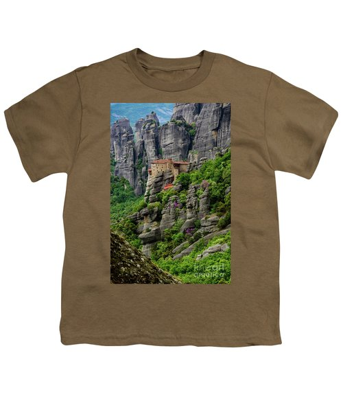 Monastery Of Saint Nicholas Of Anapafsas, Meteora, Greece Youth T-Shirt