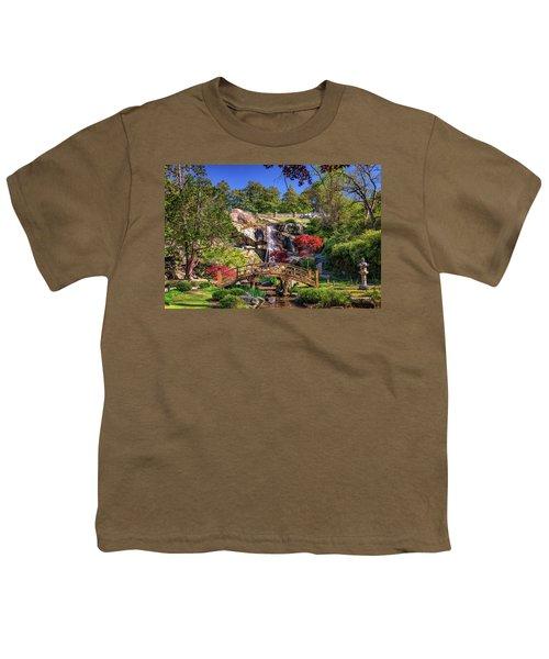 Moon Bridge And Maymont Falls Youth T-Shirt