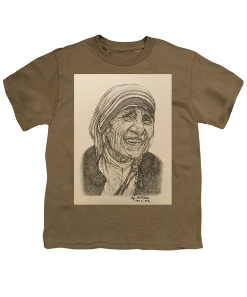 Mother Theresa Kindness Youth T-Shirt by Kent Chua