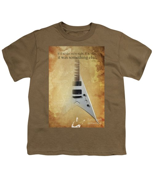 Dr House Inspirational Quote And Electric Guitar Brown Vintage Poster For Musicians And Trekkers Youth T-Shirt by Pablo Franchi