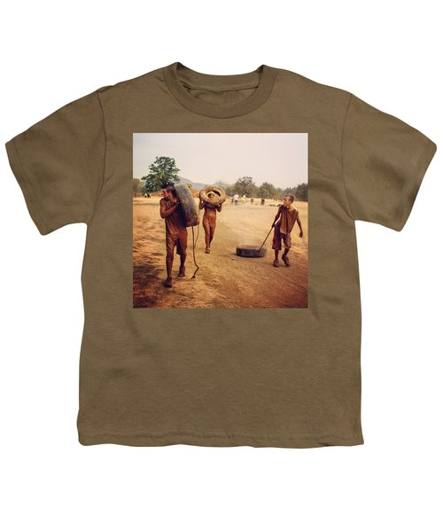 #muddy #mud #mudrun #tires #walking Youth T-Shirt