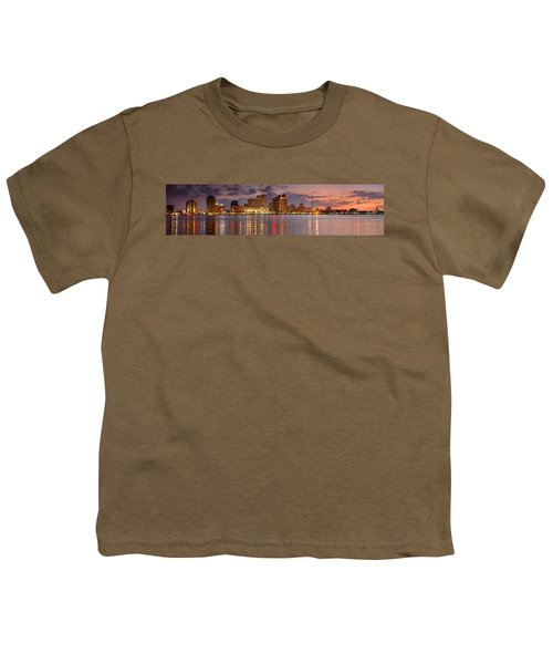 New Orleans Skyline At Dusk Youth T-Shirt