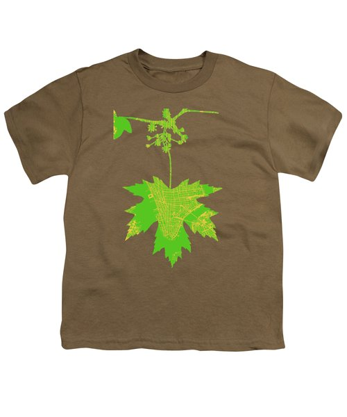 New Yor City Vintage Map Youth T-Shirt