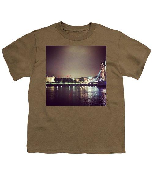 Nighttime In London Youth T-Shirt by Nancy Ann Healy