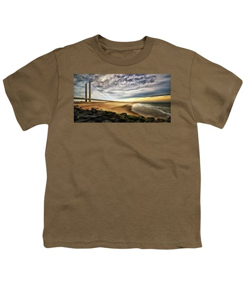 North Beach At Indian River Inlet Youth T-Shirt