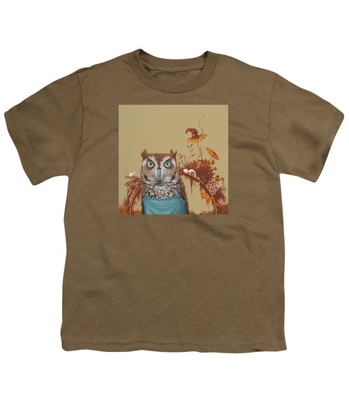 Northern Screech Owl Youth T-Shirt