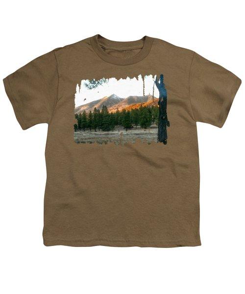 November Sunset On Sf Peaks Youth T-Shirt
