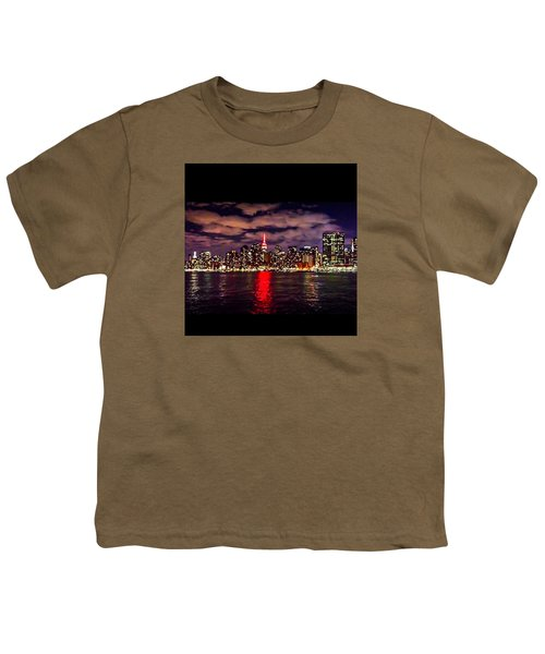 Nyc Skyline Youth T-Shirt by Diya Baichu
