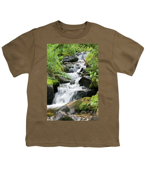 Youth T-Shirt featuring the photograph Oasis Cascade by David Chandler