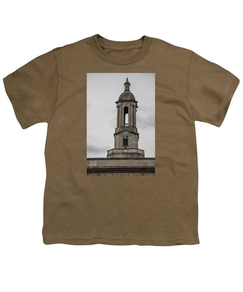 Old Main From Front Clock Youth T-Shirt by John McGraw