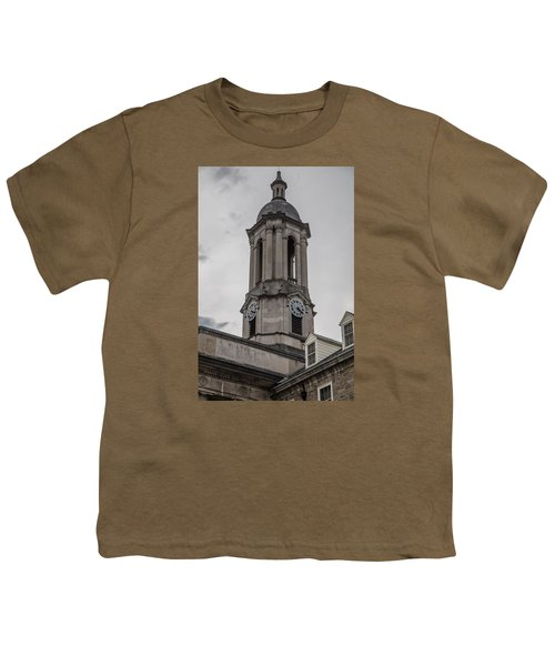 Old Main Penn State Clock  Youth T-Shirt by John McGraw