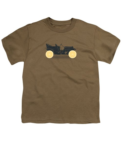 Oldtimer Historic Car With Lemon Wheels Youth T-Shirt