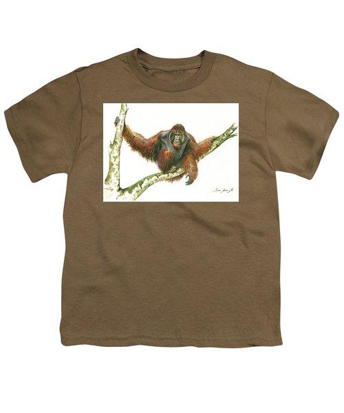 Orangutang Youth T-Shirt by Juan Bosco