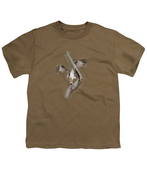 Osprey Tee-shirt Youth T-Shirt by Donna Brown