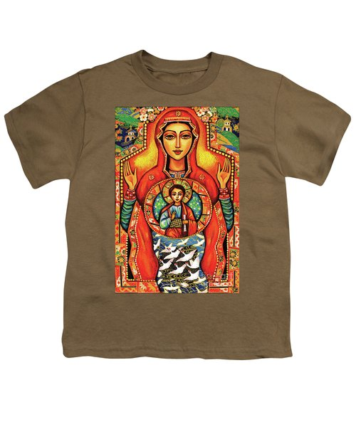 Youth T-Shirt featuring the painting Our Lady Of The Sign by Eva Campbell